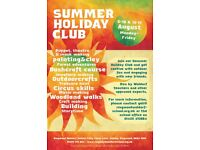 Summer Holiday Club for children aged 6-12 - 6th-17th Aug