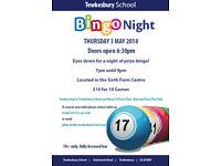Bingo Night at Tewkesbury School - Thursday 3 May 2018 at 7pm-9pm