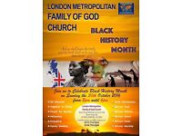 London Family of God Church celebrates Black History Month, with African Worship, Food and Music