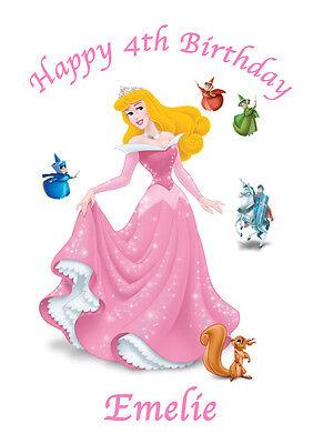 Aurora Sleeping Beauty Princess x1 Edible Cake Topper A4 Icing Sheet