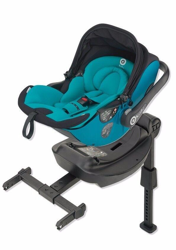 Kiddy Evo-Lunafix Black Lie Flat Car Seat / Carrier & Isofix Base