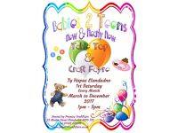 New & Nearly New Babies 2 Teens Sale & Craft Fair Ty Hapus Llandudno 4th March 1-5pm