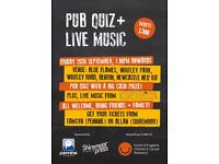 Charity Fundraiser with pub quiz and local live music