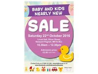 Baby and Kids Nearly New Sale in Newport Pagnell Sat 22nd Oct 2016