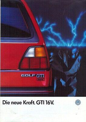 Volkswagen Golf GTI 16v Mk 2 sales brochure German market 1985