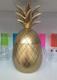 Brass retro style pineapple