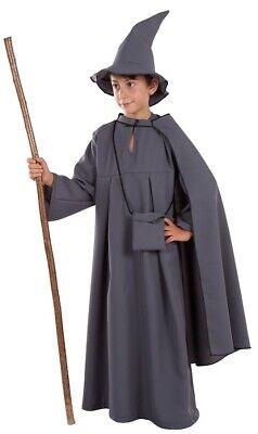Grau 12 Jahre Kind Zauberer Gandalf Kino Mittelalterlich Neu (Kind Gandalf Kostüm)