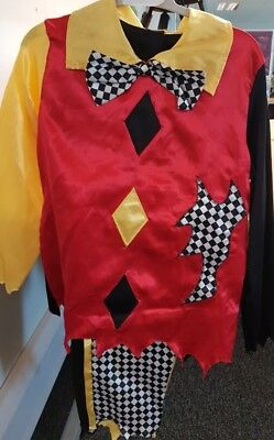 Halloween Costumes For Boys Age 11 Scary (Children's Scary Clown with Mask Fancy Dress Halloween Ages 8-10 and)