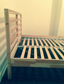 IKEA Double slatted wooden bed base