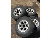 Quick Sale 4 x L200/Shogun/Pajero alloys with tyres