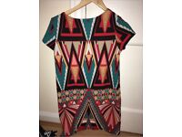 Aztec pattern dress, Boohoo, UK 10