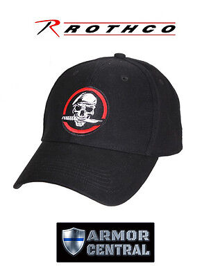 NEW Rothco Skull / Knife Deluxe Low Profile Insignia Baseball Cap / Hat - 9813 Insignia Baseball Cap