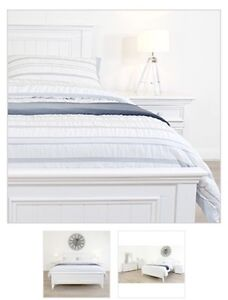 king single bed fame - white - NEW never used Penrith Penrith Area Preview