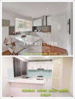 Complete Kitchen Cabinets+Polyurethane Gloss White Door+Kick