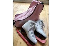 White Ice Skates size 5