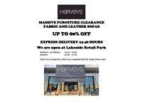 8 days left!!! HARVEYS Furniture Clearance UP TO 80% OFF, Express Delivery, Last HARVEYS store in UK