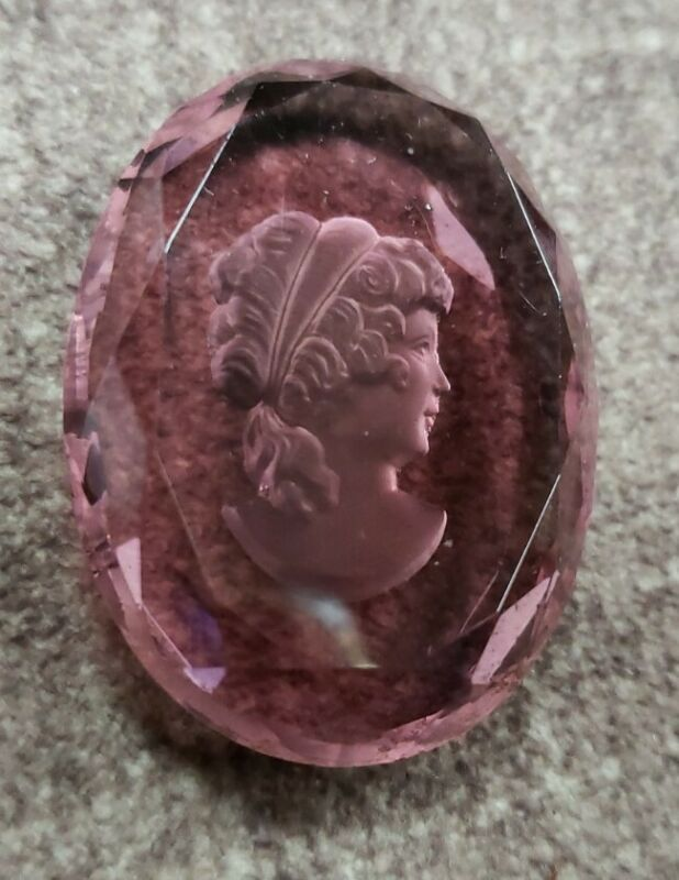Antique Amethyst Glass Intaglio Cameo