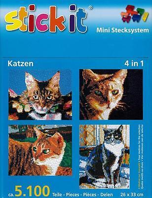 Mini Stecksystem Katzen Köpfe 4 in 1 ca. 5.100 Teile Nr. 41054