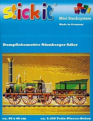 Mini Stecksystem Dampflokomotive Nürnberger Adler ca. 9.200 Teile Nr. 42138
