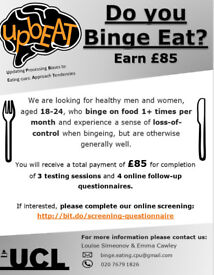 Participants needed for binge eating research study - Paid £85