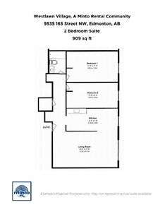 One Bedroom Suites WestLawn Village for Rent - 9535 165... Edmonton Edmonton Area image 19