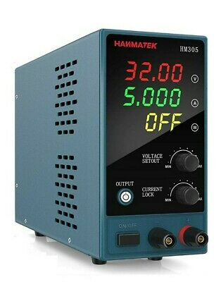 Adjustable Dc Power Supply 0-30 V 0-5 A Hanmatek Hm305 Mini Variable Switching