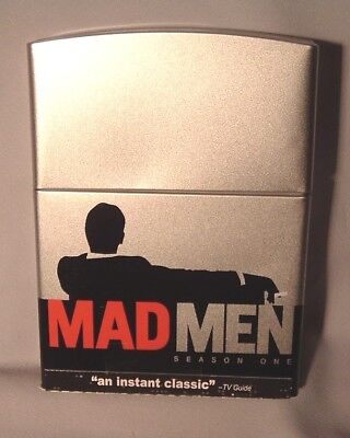 DVD MAD MEN Season One (1) ZIPPO LIGHTER EDITION TIN BOX MINT Mad Men Light