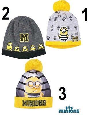 Disney Minion Minions Wintermütze Hut Mütze Kopfbedeckung Größe 52 - 54 NEU