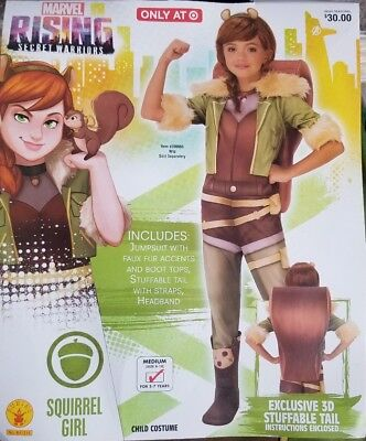 Marvel Rising Secret Warriors SQUIRREL GIRL Kids Costume, Medium (Size 8-10) NWT - Squirrel Kids Costume