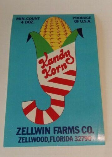 Kandy Korn Label Zellwin Farms Co Zellwood Florida