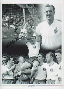 NAT-LOFTHOUSE-Signed-12x9-Photo-ENGLAND-BOLTON-WANDERERS-Legend-COA