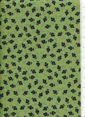 Retro Halloween Fabric (2007 thimbleberries ~ MR HALLOWEEN PARTY ~ fabric retro vintage OWL BAT STAR)