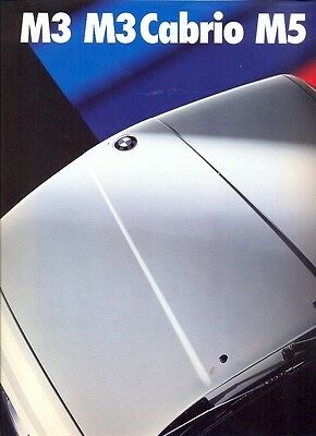 BMW M3 & Cabrio M5 1989 German market sales brochure