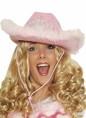 Lady Cowboyhut mit Blink Diadem rosa Damen Kostüm Cowgirl - Rosa Cowgirl Kostüm