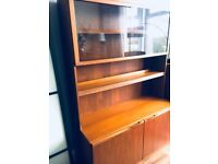 Free mid-century teak unit (must go by Tuesday)