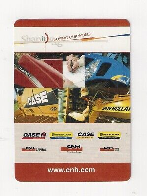 deck playing cards advertising CNH Industrial, Case, IH, NewHolland, agriculture