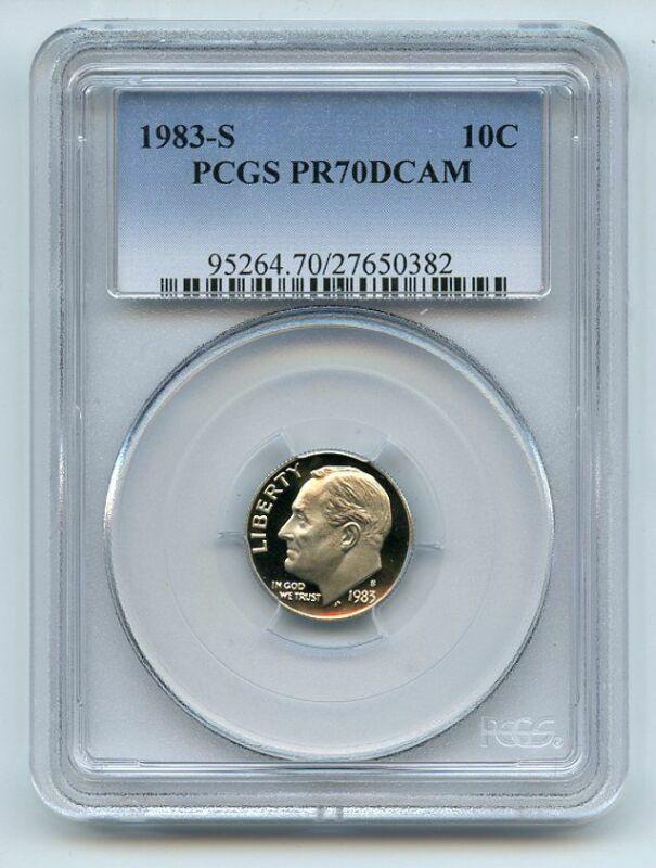 1983 S 10C Roosevelt Dime Proof PCGS PR70DCAM