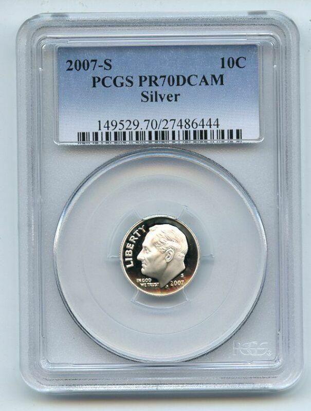 2007 S 10C Silver Roosevelt Dime PCGS PR70DCAM