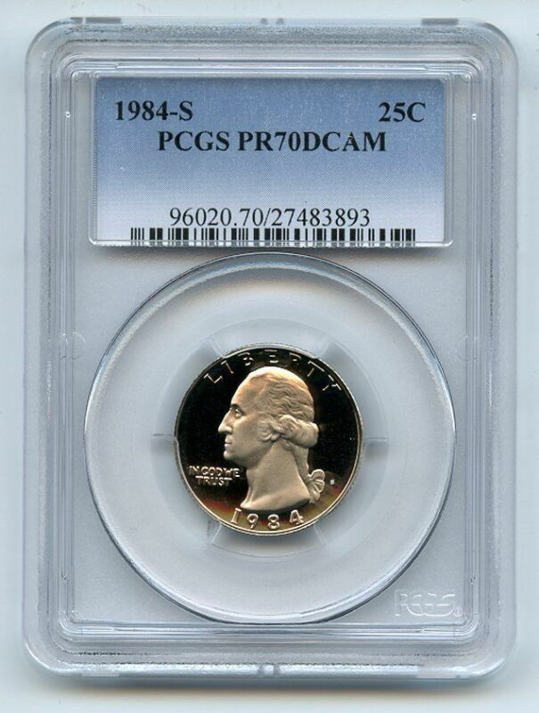 1984 S 25C Washington Quarter Proof PCGS PR70DCAM