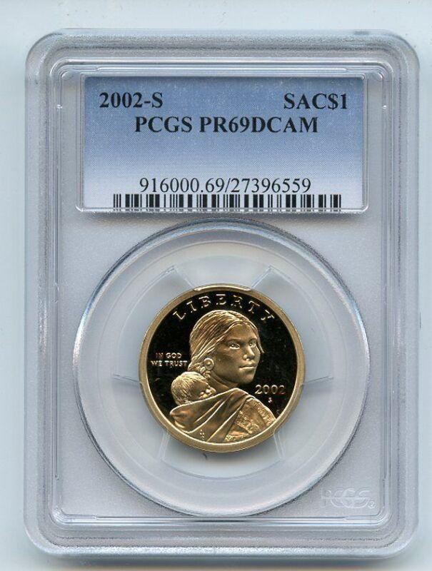2002 S $1 Sacagawea Dollar PCGS PR69DCAM