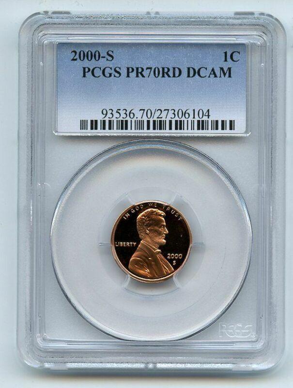2000 S 1C Lincoln Cent PCGS PR70DCAM