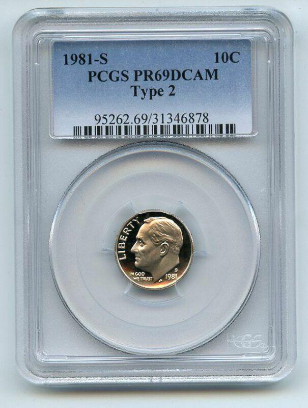 1981 S 10C Type 2 T2 Roosevelt Dime Proof PCGS PR69DCAM