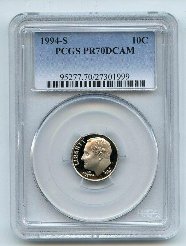 1994 S 10C Roosevelt Dime Proof PCGS PR70DCAM