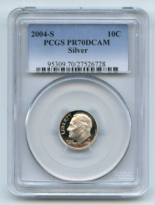 2004 S 10C Silver Roosevelt Dime PCGS PR70DCAM