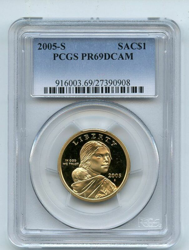 2005 S $1 Sacagawea Dollar PCGS PR69DCAM