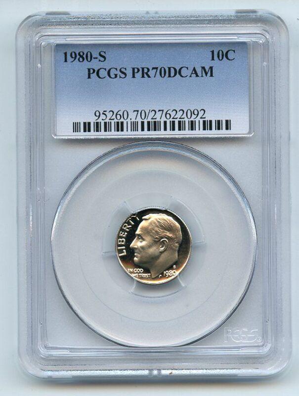1980 S 10C Roosevelt Dime Proof PCGS PR70DCAM