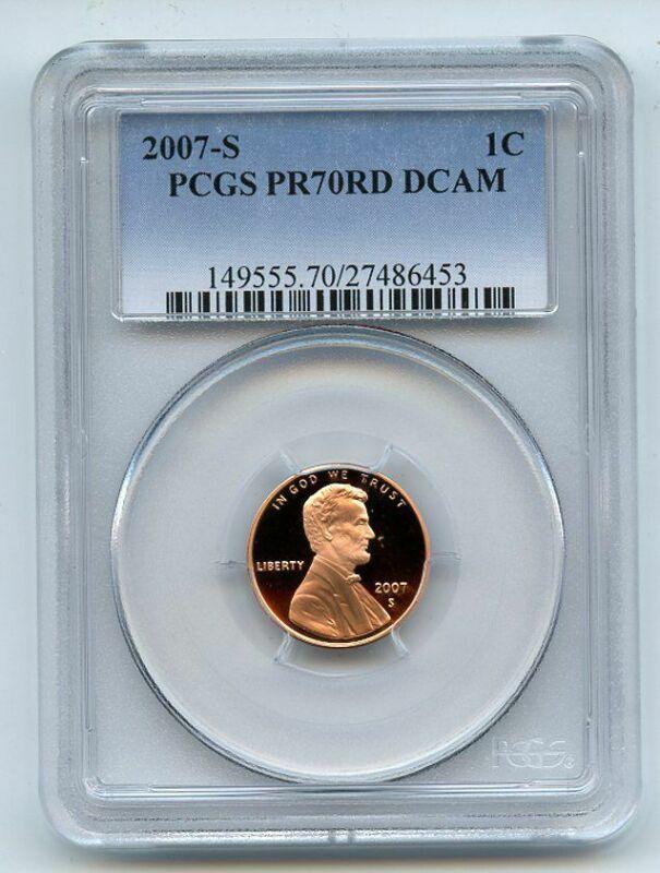 2007 S 1C Lincoln Cent PCGS PR70DCAM