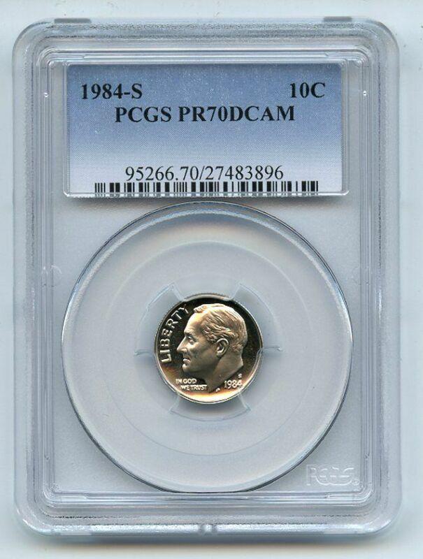 1984 S 10C Roosevelt Dime Proof PCGS PR70DCAM
