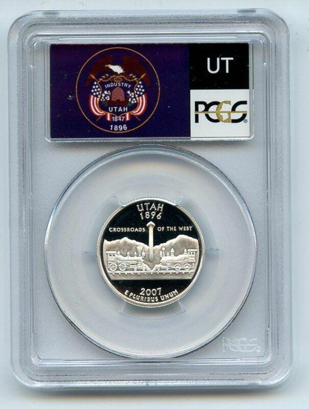 2007 S 25C Silver Utah Quarter PCGS PR70DCAM