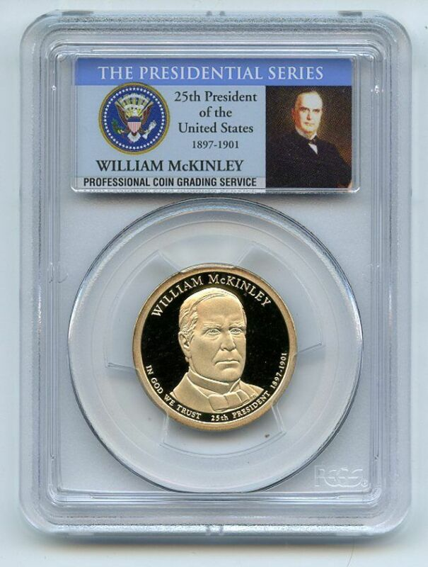 2013 S $1 William McKinley Dollar PCGS PR70DCAM